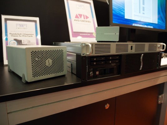 Musikmesse2014 Sonnet Technologies Thunderbolt to PCIe Expantion Chassieを展示
