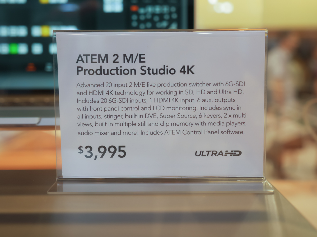 NAB 2014 : BMD ~ 4K Switcher & Teranex 4K ~